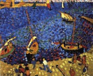 André derain bateaux à collioure 1905