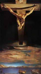 Salvador Dali, Christ de Saint Jean de la Crois, 1951,  peinture à l'huile, 205x116cm, Kelvingrove Art Gallery and Museum, Ecosse